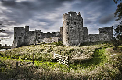 Photograph - Carew Castle Pembrokeshire Long Exposure 2 by Steve Purnell