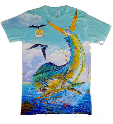 Dolphins Digital Art - Carey Chen Mens Dolphin Shirt by Carey Chen