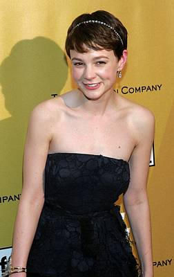 Diamond Earrings Photograph - Carey Mulligan Wearing A Nina Ricci by Everett