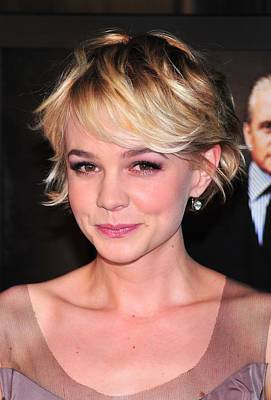 Diamond Earrings Photograph - Carey Mulligan Wearing Fred Leighton by Everett