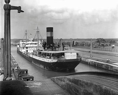 Cargo Ship, Panama Canal Art Print by George Marks