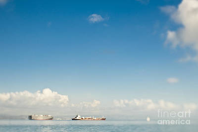 Cargo Ships On The Water Art Print by Eddy Joaquim