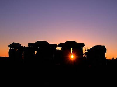 Photograph - Carhenge Solstice by HW Kateley