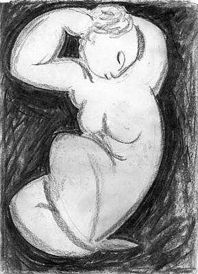 Cariatide After Modigliani Art Print