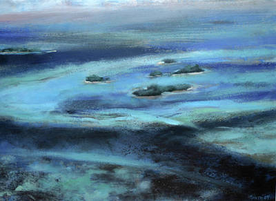 Arial View Painting - Caribbean Blue by Tom Smith