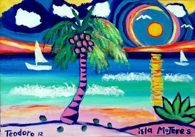 Painting - Caribbean Life 2 by Ted Hebbler