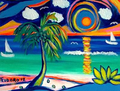 Painting - Caribbean Life by Ted Hebbler