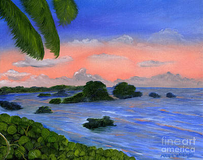 Caribbean Sky Art Print by Maria Williams