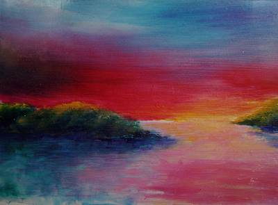 Painting - Caribbean Sunset by Karin Eisermann