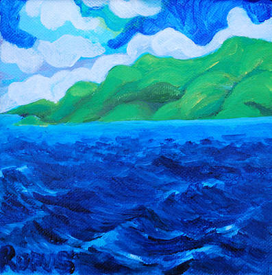 Hills Painting - Caribe Seascape by Rufus Norman
