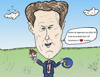 Tr Mixed Media - Caricature De Timothy Geithner by OptionsClick BlogArt