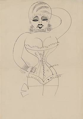 Sex Symbol Photograph - Caricature Of A Corseted Mae West by Everett