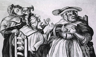 Cartoonish  - Caricature Of Three Alcoholics, 1773 by Science Source