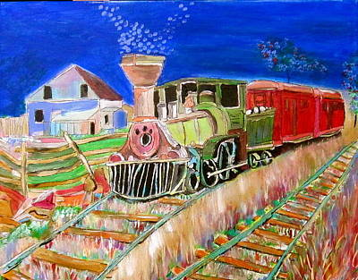 Litvack Painting - Carillon Grenville Engine Train by Michael Litvack