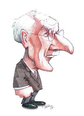 Collective Unconscious Photograph - Carl Jung, Caricature by Gary Brown