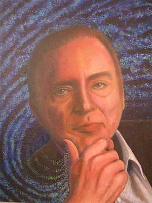 Carl Sagan Painting - Carl Sagan Portrait by Mary VanDenBerg