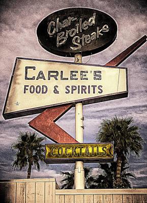 Carlees Food And Spirits Art Print by Ron Regalado