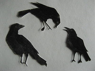 Carl's Crows Art Print by Betty Pieper