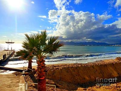 Carlton Beach Cannes Art Print by Rogerio Mariani