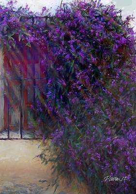 Digital Art - Carmel Mission Window And Flowers II by Jim Pavelle