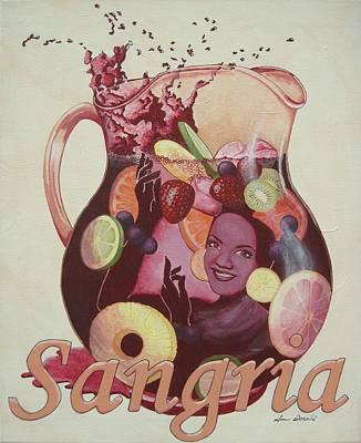 Carmen Miranda Sangria Art Print by Jennifer  Donald
