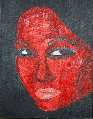 Face Painting - Carmine by John Wesley