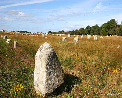 Photograph - Carnac Standing Stones by Diana Haronis