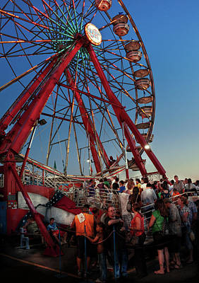 Photograph - Carnival - An Amusing Ride  by Mike Savad