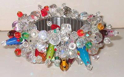 Lampwork Bracelet Jewelry - Carnival Carnivale by Laura Lampe