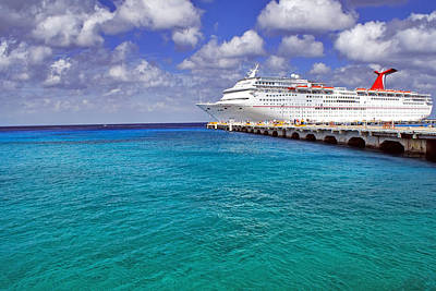 Photograph - Carnival Elation Docked At Cozumel by Jason Politte