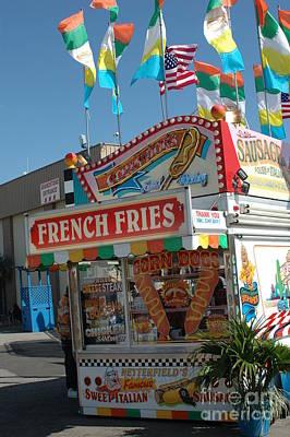 Carnival Festival Fun Fair French Fries Food Stand Art Print