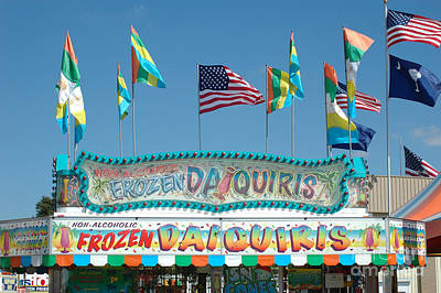 Surreal Pink Carnival Photograph - Carnival Festival Fun Fair Frozen Daiguiris Stand by Kathy Fornal