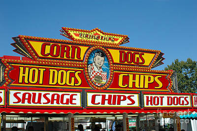 Hot Dogs Photograph - Carnival Festival Fun Fair Hot Dog Stand by Kathy Fornal