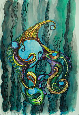 Drawing - Carnival Fish 2 by Tamra Pfeifle Davisson