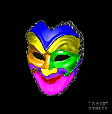 Print featuring the photograph Carnival Mask by Blair Stuart