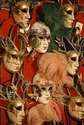 Carnival Masks For Sale Art Print by Jim Richardson