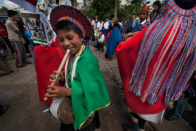 Custom Photograph - Carnival Of Forgiveness. Population Of Sibundoy. Republic Of Colombia. by Eric Bauer