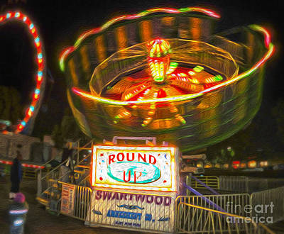 Carnival Ride - The Round Up Art Print by Gregory Dyer