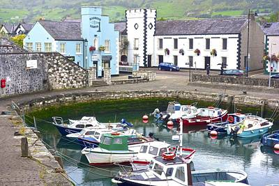 Photograph - Carnlough Harbour by Charlie and Norma Brock