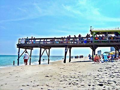 Carolina Beach Tiki Bar Art Print