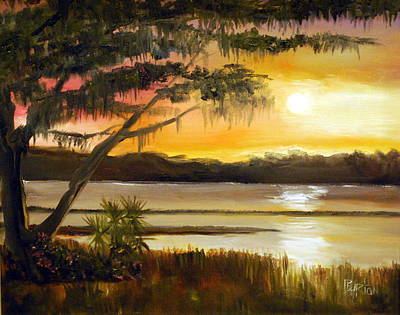 Painting - Carolina Sunset by Phil Burton