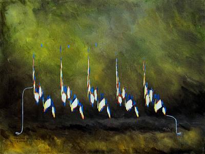Painting - Carolina Wren Song by TD Wilson
