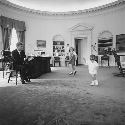 Caroline And John Jr. Dance In The Oval Art Print
