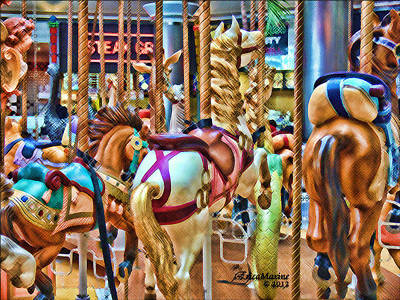 Photograph - Carousel 7 Hdr by EricaMaxine  Price