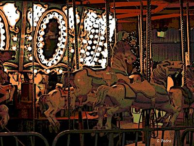 Photograph - Carousel At Night by George Pedro