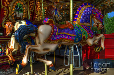 Photograph - Carousel Beauties Going Away by Bob Christopher