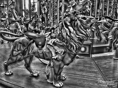 Photograph - Carousel  Black And White by Ericamaxine Price