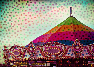 Carousel Dots Art Print by Sonja Quintero