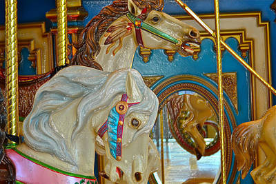Photograph - Carousel Horses by Bill Owen