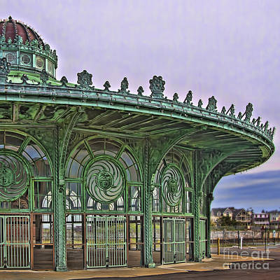 Print featuring the photograph Carousel House by Vicki DeVico